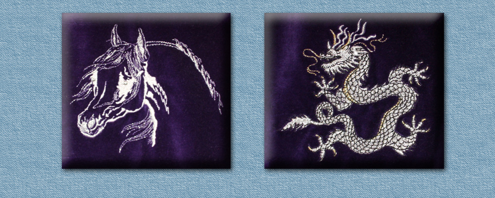 Embroidered animals surrey