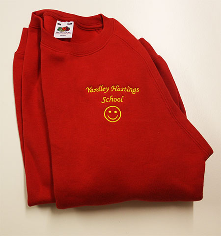 embroidered school sweatshirt